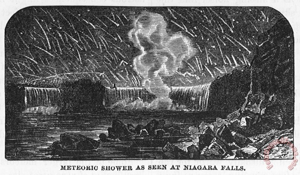 Leonid Meteor Shower, 1833 painting - Others Leonid Meteor Shower, 1833 Art Print