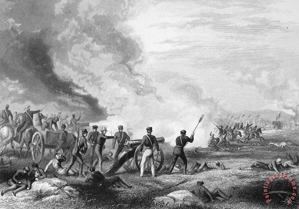 Mexican War: Palo Alto painting - Others Mexican War: Palo Alto Art Print