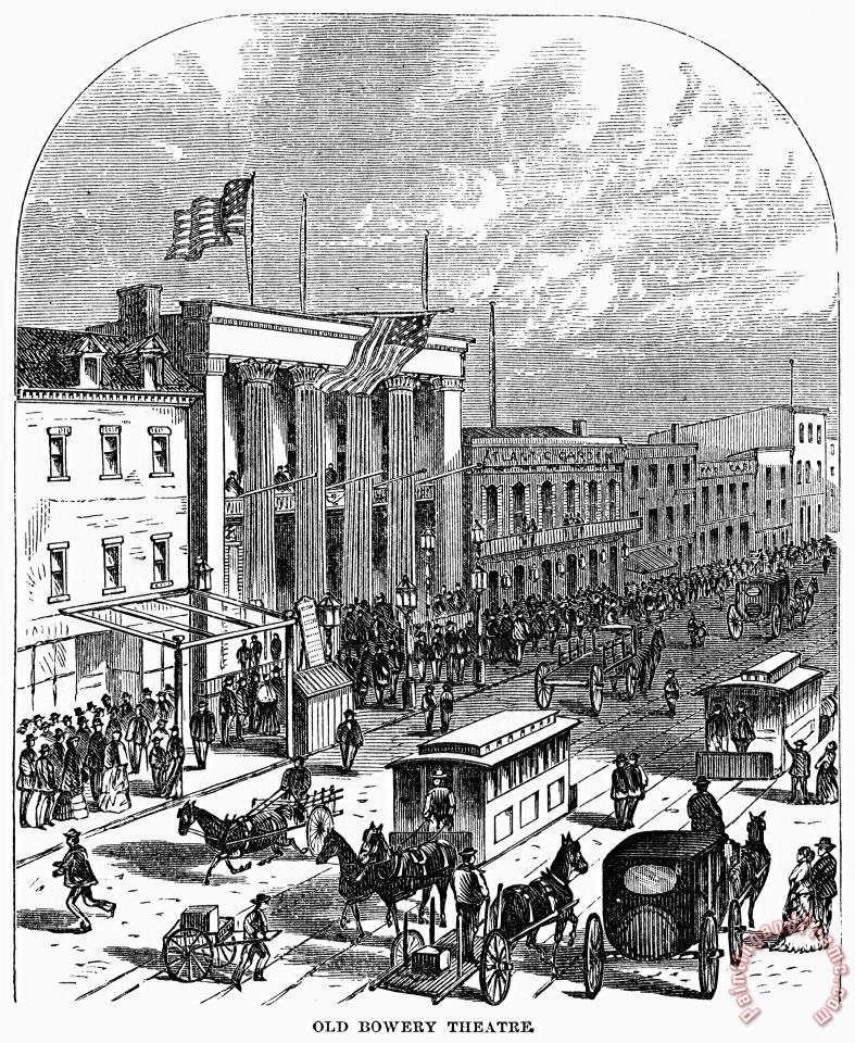 New York: The Bowery, 1871 painting - Others New York: The Bowery, 1871 Art Print
