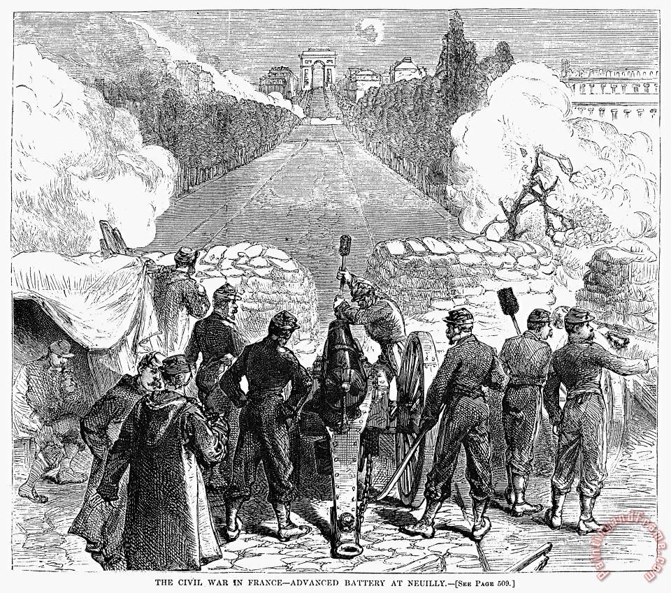 Others Paris Commune, 1871 Art Print