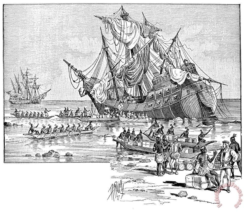 Santa Maria: Wreck, 1492 painting - Others Santa Maria: Wreck, 1492 Art Print