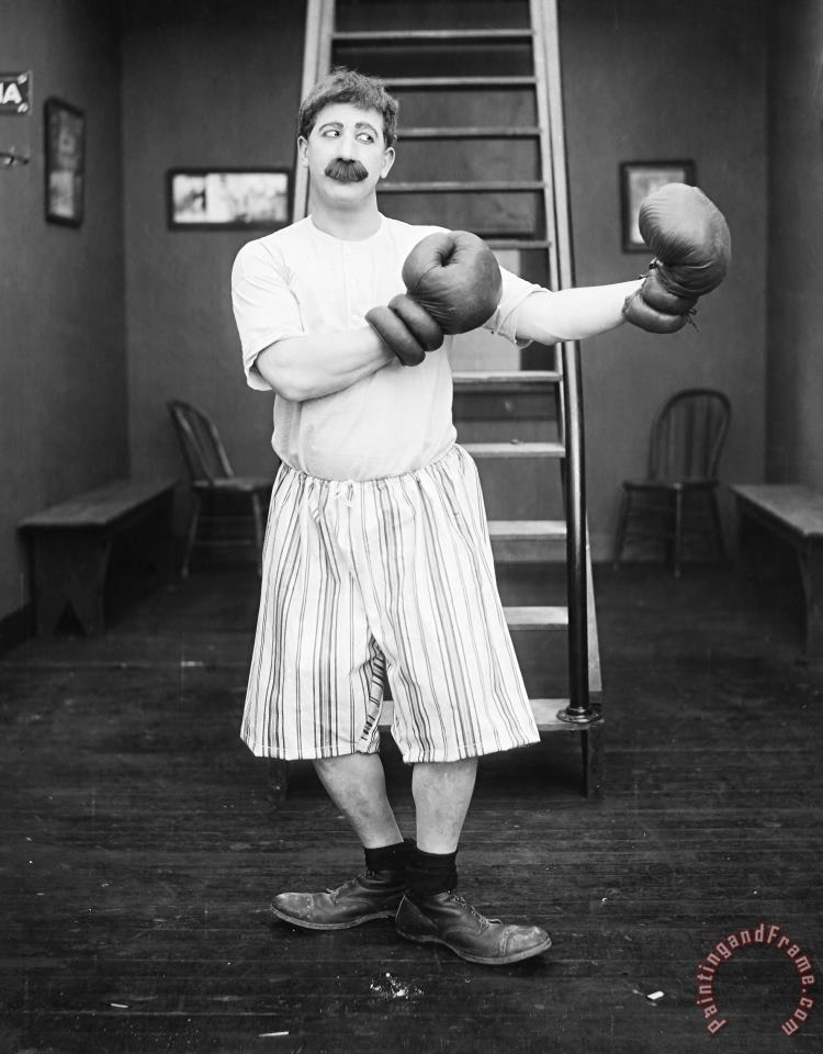 Silent Film Still: Boxing painting - Others Silent Film Still: Boxing Art Print