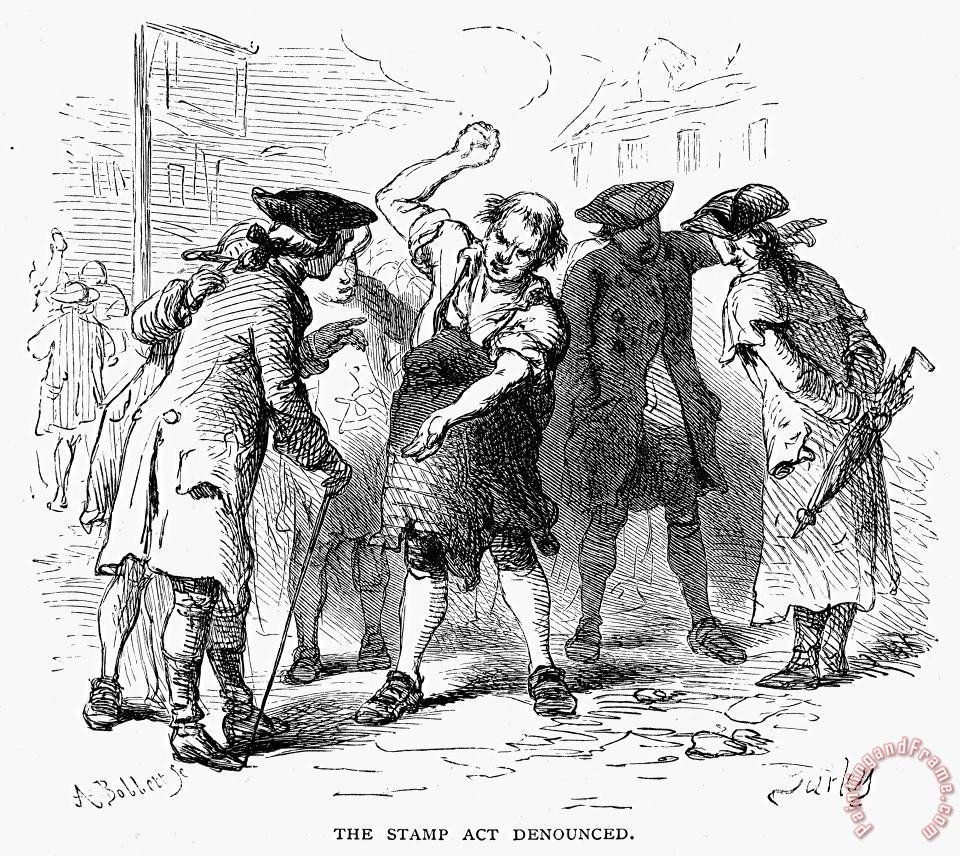 Stamp Act, 1765 painting - Others Stamp Act, 1765 Art Print