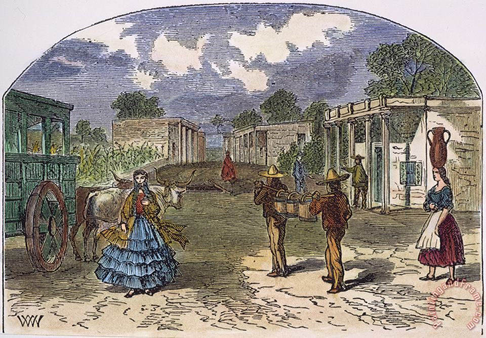 TEXAS: EL PASO, 1860s painting - Others TEXAS: EL PASO, 1860s Art Print