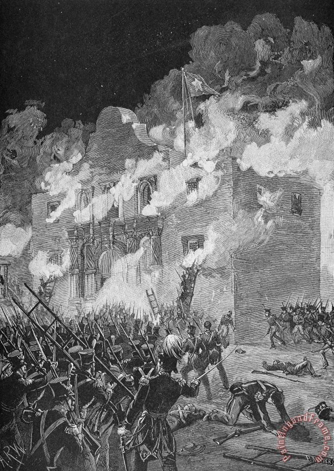 Texas: The Alamo, 1836 painting - Others Texas: The Alamo, 1836 Art Print