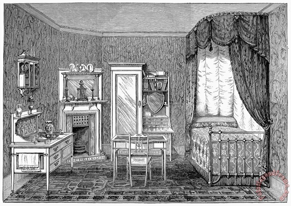Victorian Bedroom, 1884 painting - Others Victorian Bedroom, 1884 Art Print