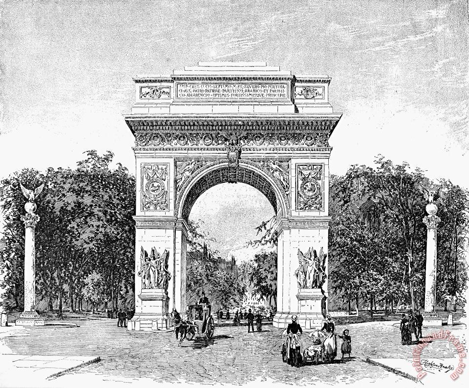 Washington Square Arch painting - Others Washington Square Arch Art Print