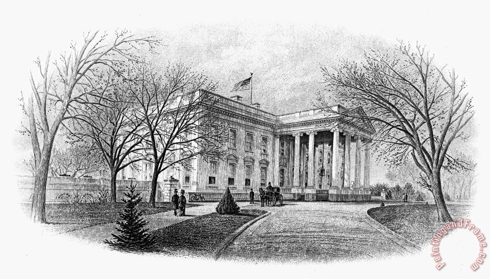 White House painting - Others White House Art Print