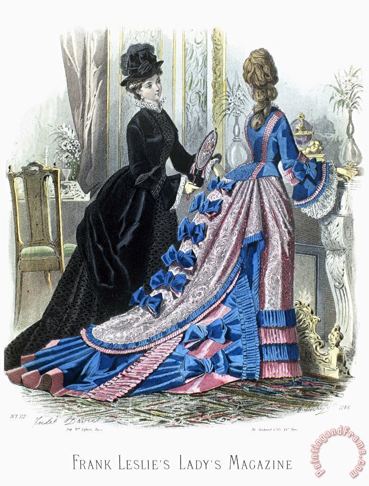 WOMENS FASHION, c1875 painting - Others WOMENS FASHION, c1875 Art Print