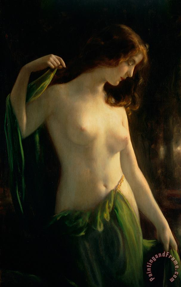 Water Nymph painting - Otto Theodor Gustav Lingner Water Nymph Art Print