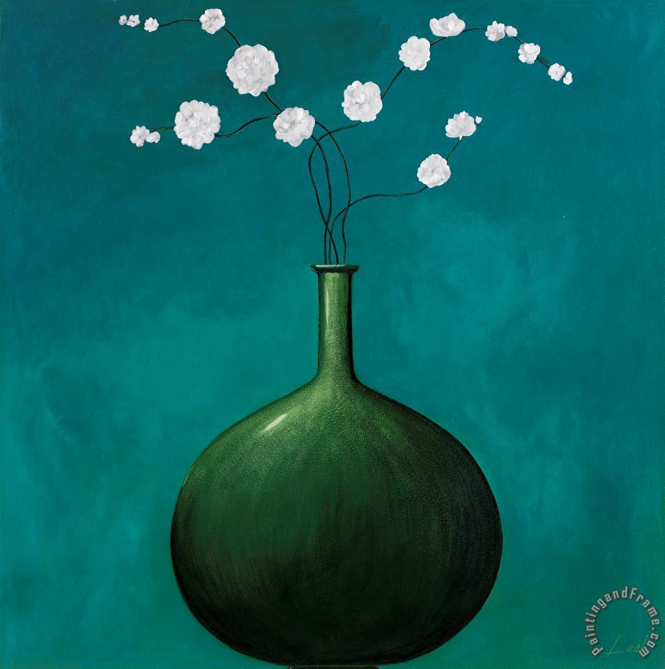 Blue Vase 1 painting - Pablo Esteban Blue Vase 1 Art Print