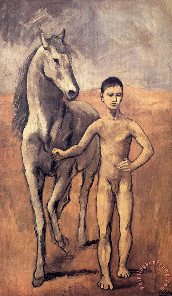 Boy Leading a Horse 1906 painting - Pablo Picasso Boy Leading a Horse 1906 Art Print