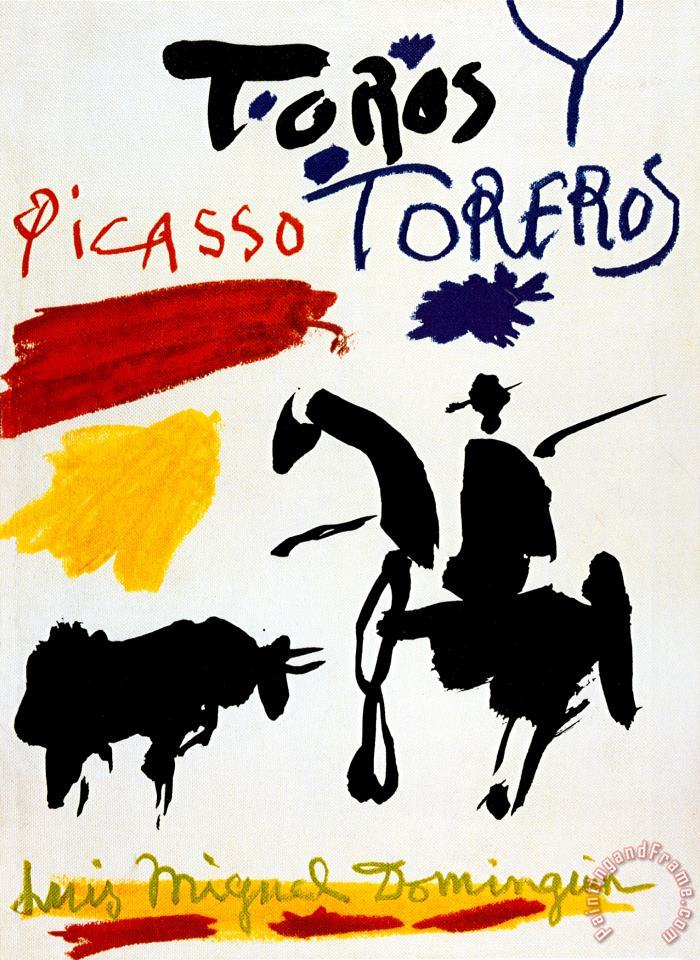 Bull with Bullfighter painting - Pablo Picasso Bull with Bullfighter Art Print