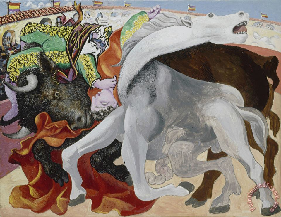 Pablo Picasso Corrida: La Mort Du Torero (bullfight: Death of The Bullfighter) Art Print
