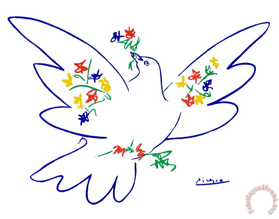 Dove of Peace painting - Pablo Picasso Dove of Peace Art Print
