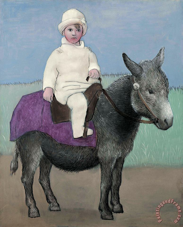 Paulo on a Donkey painting - Pablo Picasso Paulo on a Donkey Art Print