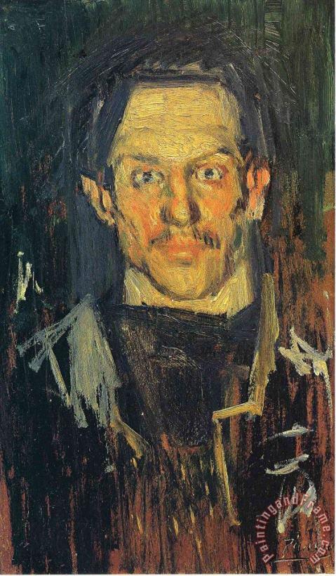 Pablo Picasso Self Portrait PHOTO Art Print of 1901 Painting