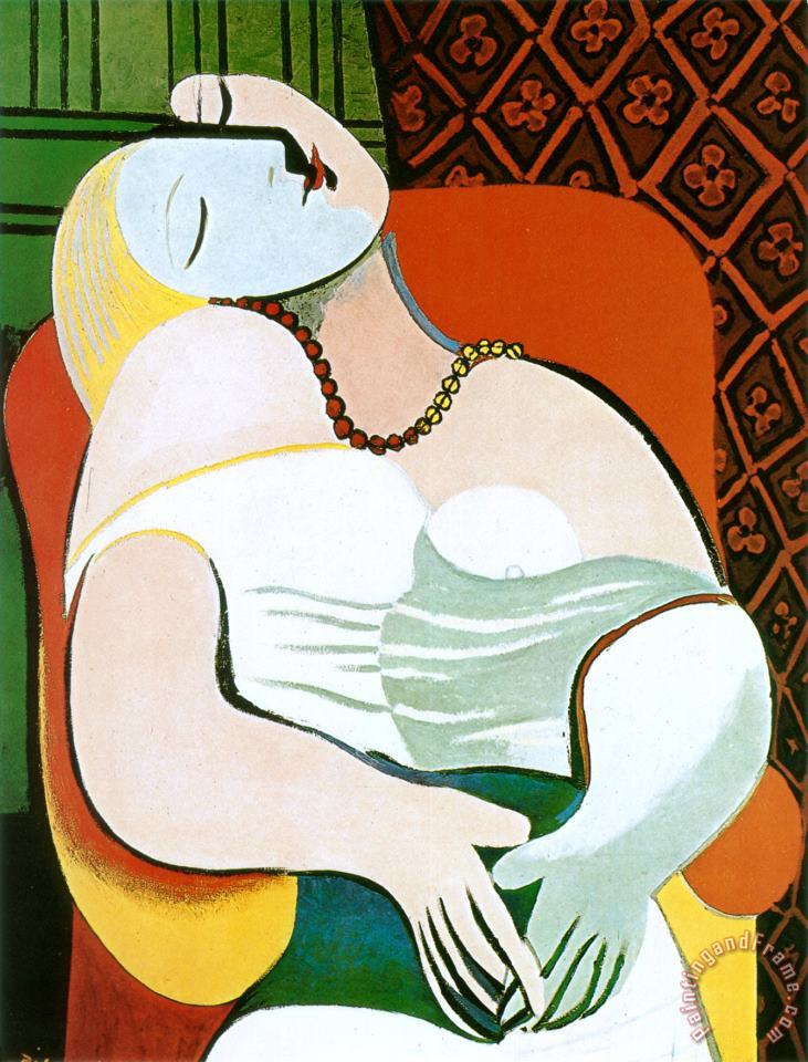The Dream painting - Pablo Picasso The Dream Art Print