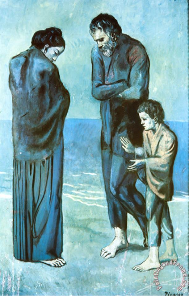 Pablo Picasso The Tragedy Art Print
