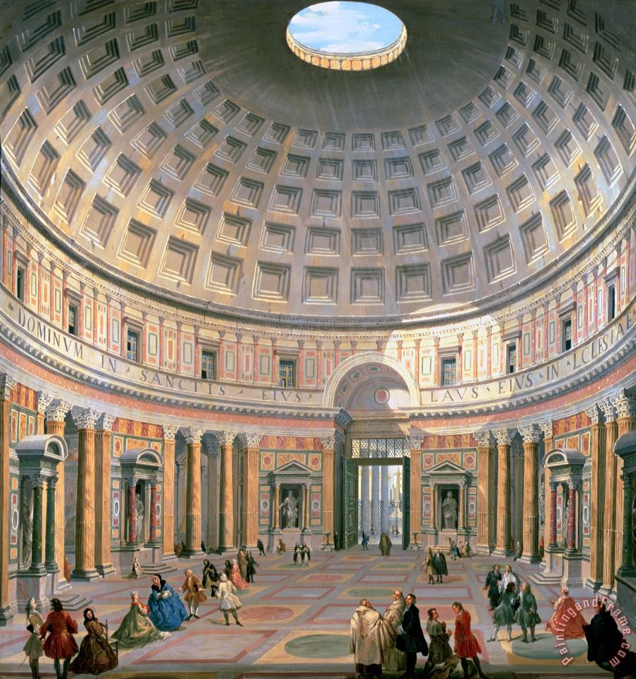Panini Interior Of The Pantheon Art Print