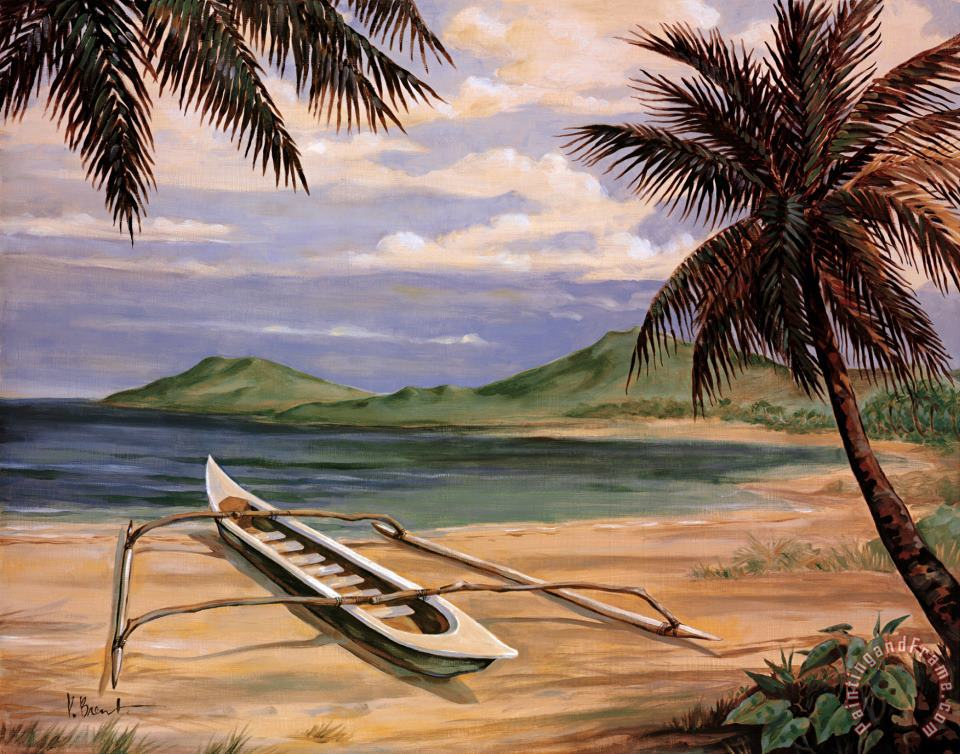 Paul Brent Outrigger Cove Art Painting