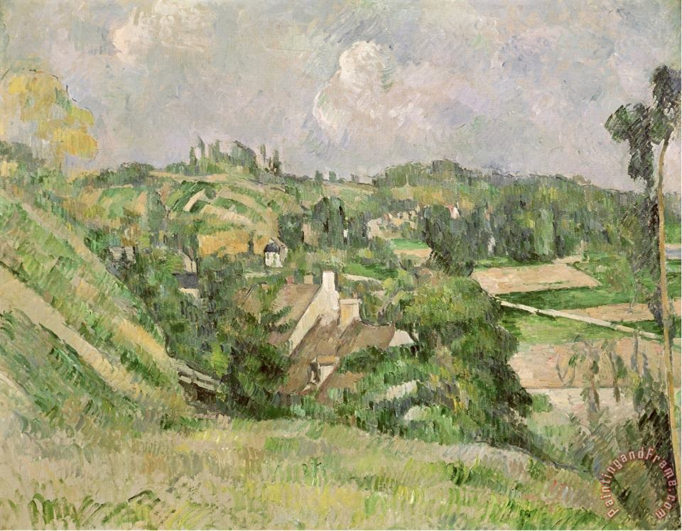 Paul Cezanne Auvers Sur Oise Seen From The Val Harme 1879 82 Art Painting
