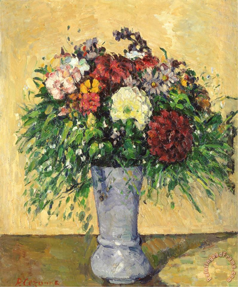 Bouquet of Flowers in a Vase Circa 1877 painting - Paul Cezanne Bouquet of Flowers in a Vase Circa 1877 Art Print