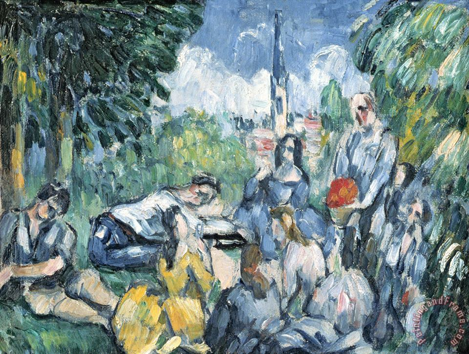 Paul Cezanne Dejeuner Sur L Herbe 1876 77 Oil on Canvas Art Print
