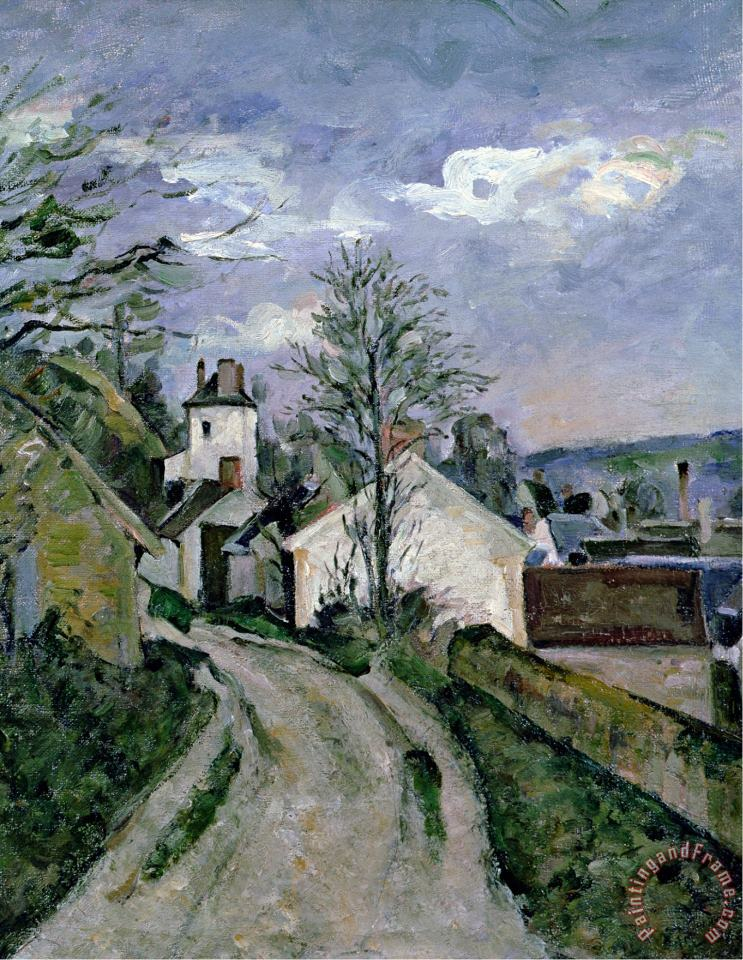 Paul Cezanne Doctor Gachet S House at Auvers Circa 1873 Art Painting