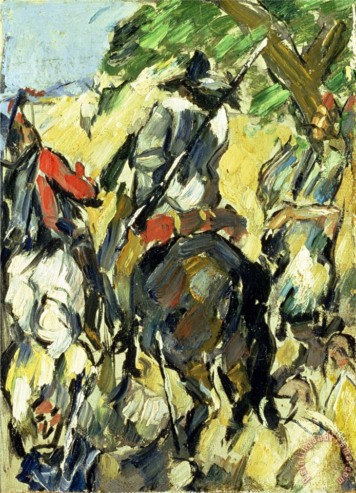 Don Quixote View From The Back C 1875 painting - Paul Cezanne Don Quixote View From The Back C 1875 Art Print