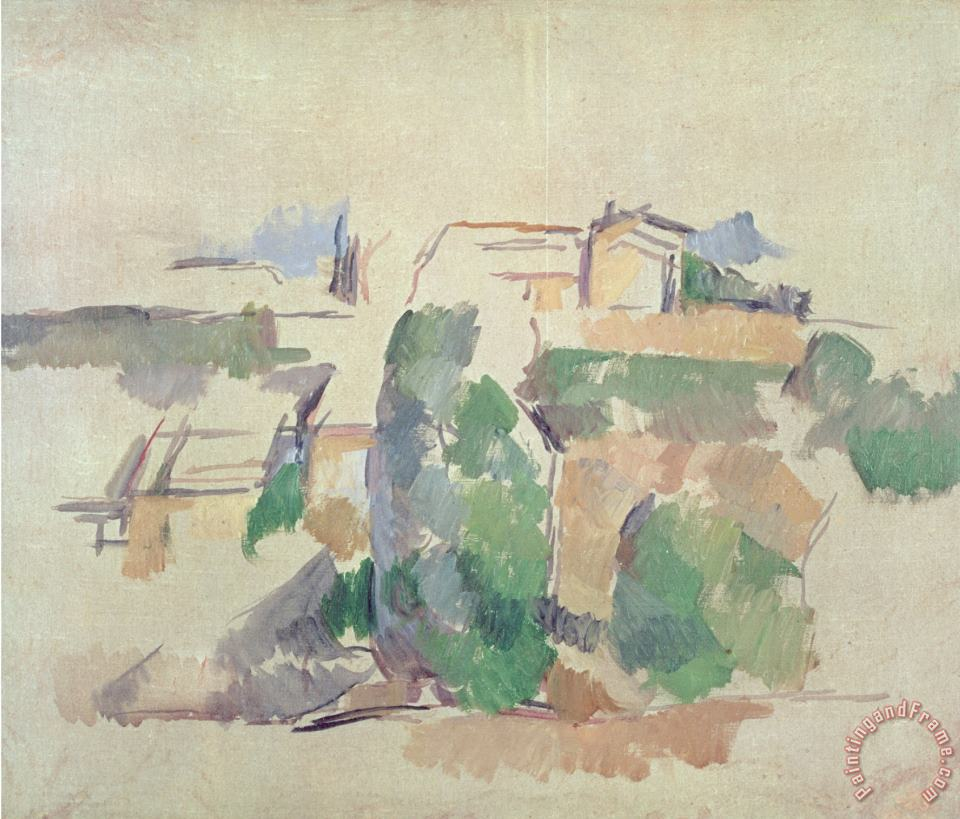 House on a Hill Close to Aix En Provence painting - Paul Cezanne House on a Hill Close to Aix En Provence Art Print