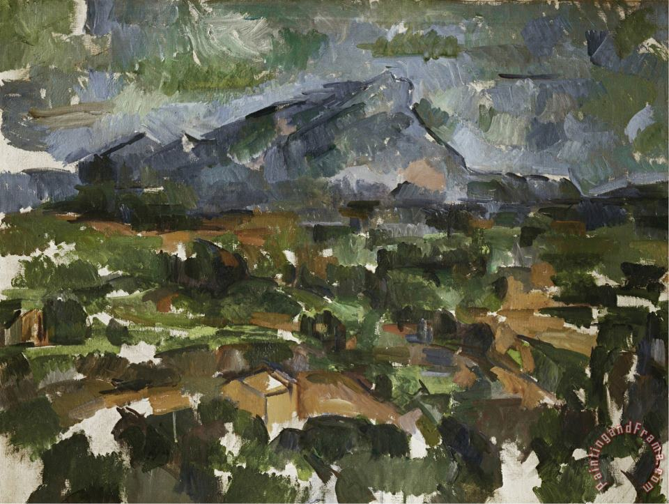Mont Sainte Victoire Seen From Les Lauves 1902 06 painting - Paul Cezanne Mont Sainte Victoire Seen From Les Lauves 1902 06 Art Print