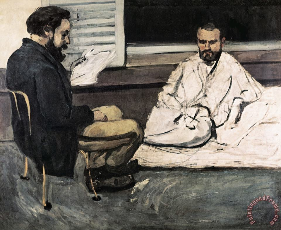 Paul Alexis Reading a Manuscript to Emile Zola painting - Paul Cezanne Paul Alexis Reading a Manuscript to Emile Zola Art Print