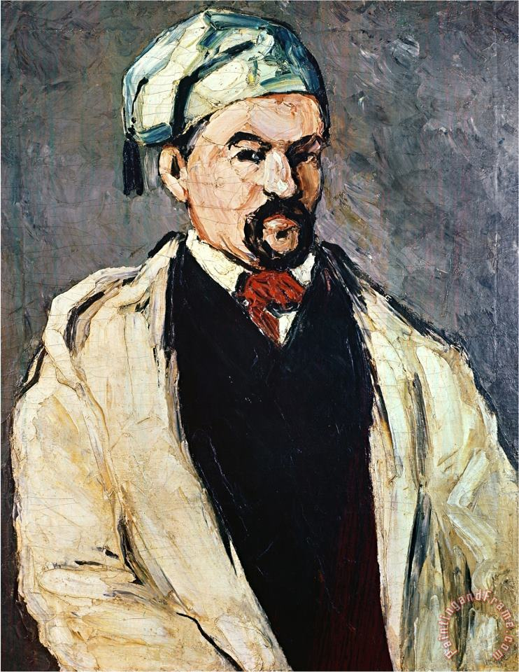 Portrait of a Man in a Blue Cap Or Uncle Dominique Circa 1866 painting - Paul Cezanne Portrait of a Man in a Blue Cap Or Uncle Dominique Circa 1866 Art Print