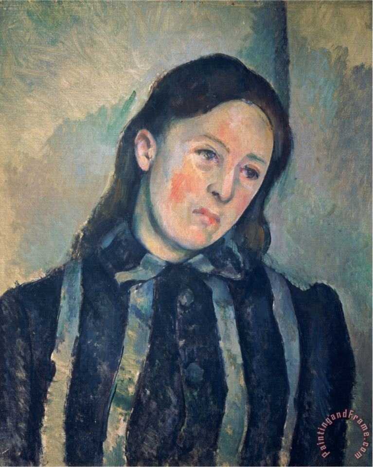 Portrait of Madame Cezanne with Loosened Hair 1890 92 painting - Paul Cezanne Portrait of Madame Cezanne with Loosened Hair 1890 92 Art Print