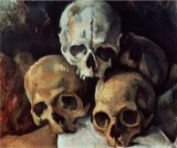Dejeuner Sur L Herbe 1876 77 Oil on Canvas Prints - Pyramid of Skulls 1898 1900 Oil on Canvas by Paul Cezanne