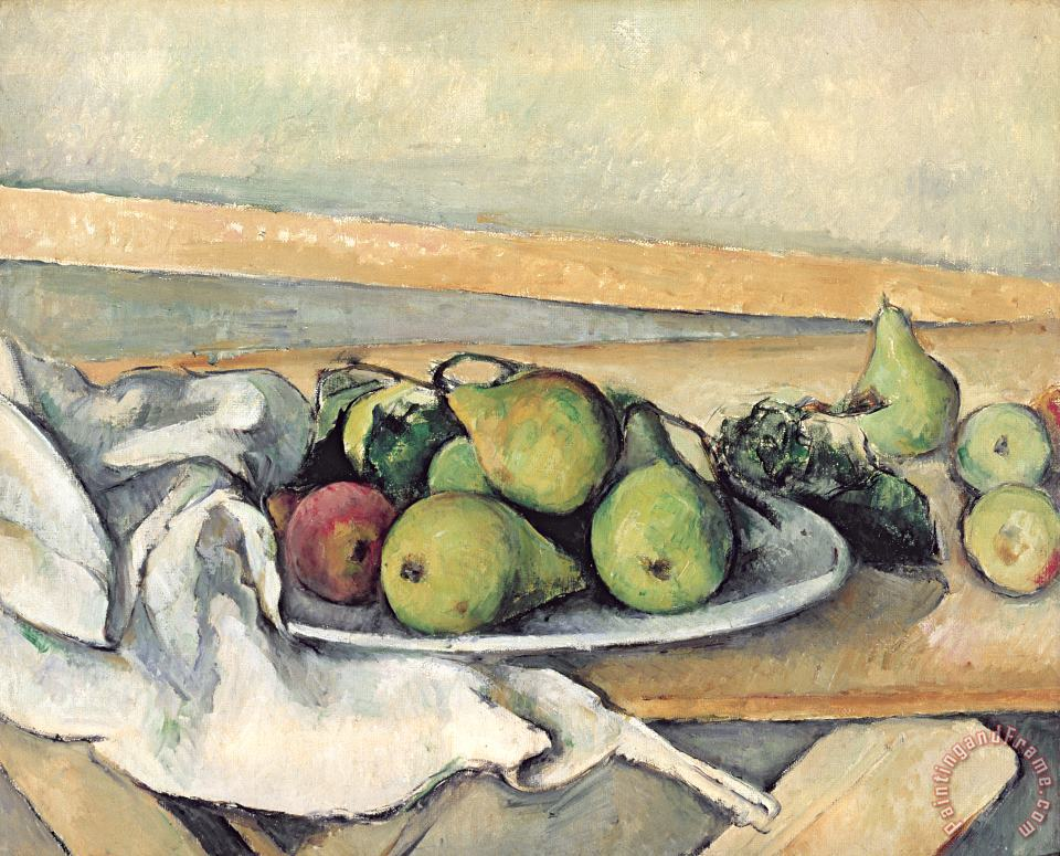 Paul Cezanne Still Life With Pears Art Print