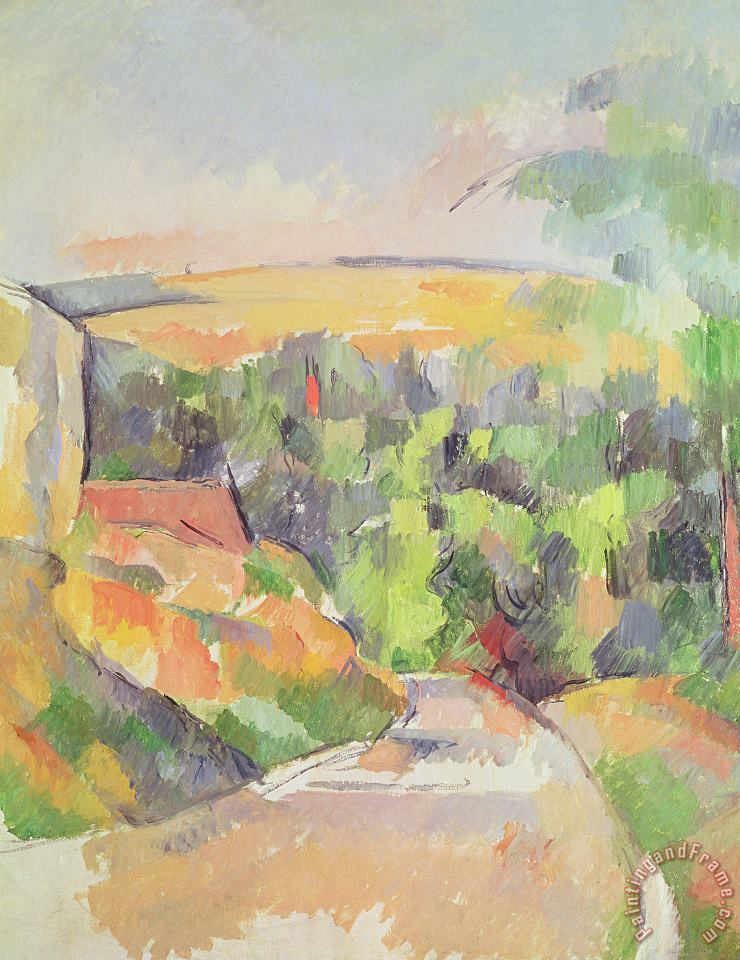 Paul Cezanne The Bend in the Road Art Painting