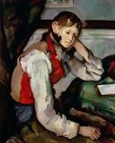 Dejeuner Sur L Herbe 1876 77 Oil on Canvas Prints - The Boy in The Red Waistcoat 1888 90 Oil on Canvas by Paul Cezanne