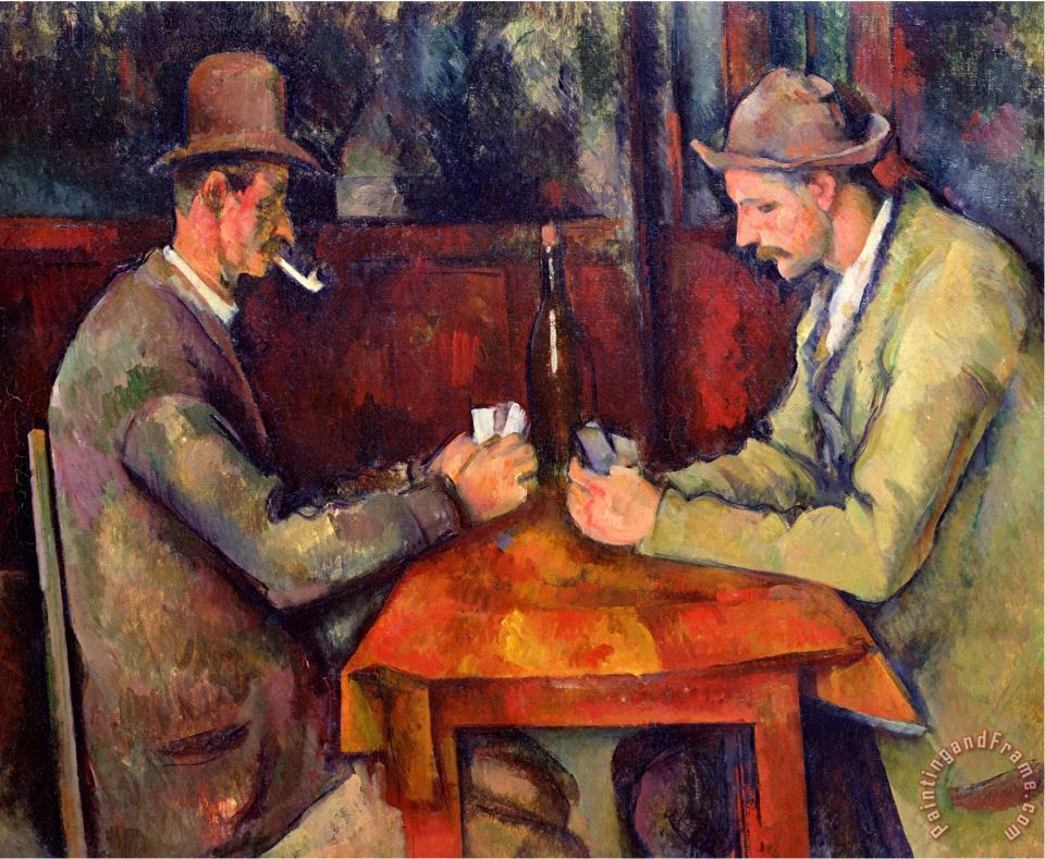 The Card Players 1893 96 painting - Paul Cezanne The Card Players 1893 96 Art Print