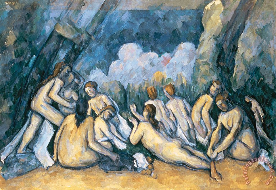 The Large Bathers painting - Paul Cezanne The Large Bathers Art Print