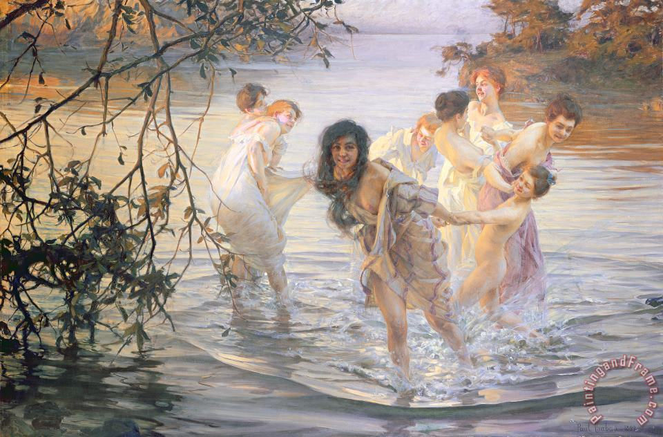 Happy Games painting - Paul Chabas Happy Games Art Print