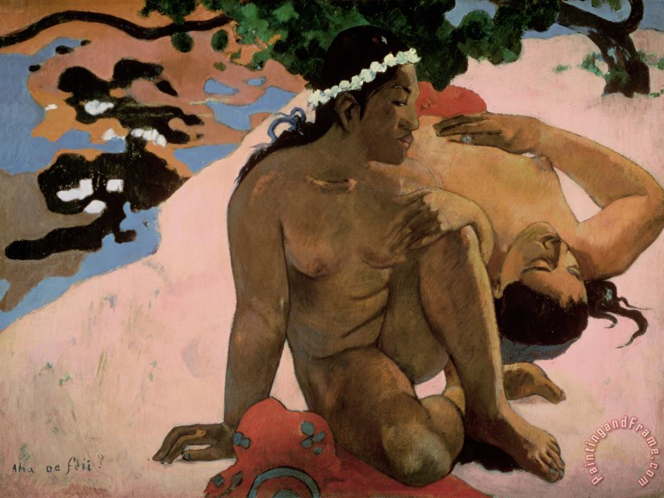 Paul Gauguin Are You Jealous Art Painting