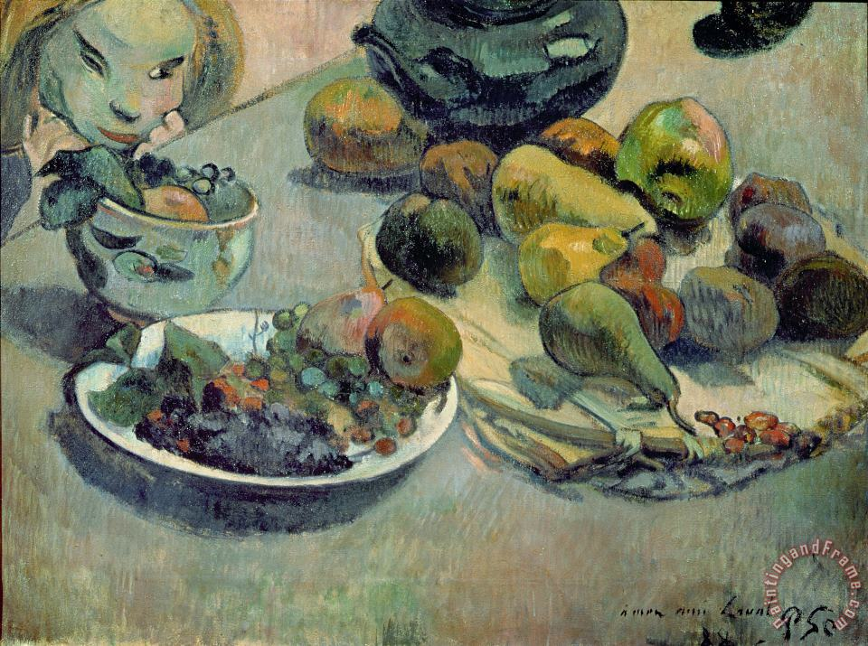 Still Life with Fruit painting - Paul Gauguin Still Life with Fruit Art Print