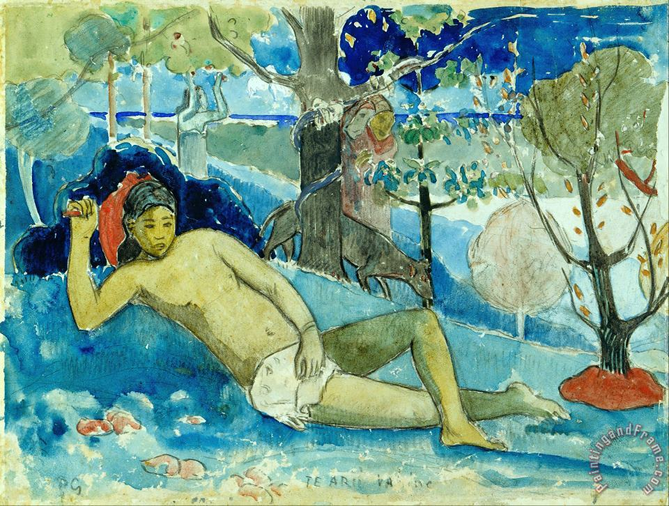 Te Arii Vahine (the Queen of Beauty Or The Noble Queen) painting - Paul Gauguin Te Arii Vahine (the Queen of Beauty Or The Noble Queen) Art Print