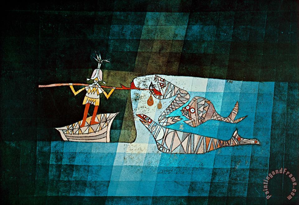 Sinbad The Sailor painting - Paul Klee Sinbad The Sailor Art Print