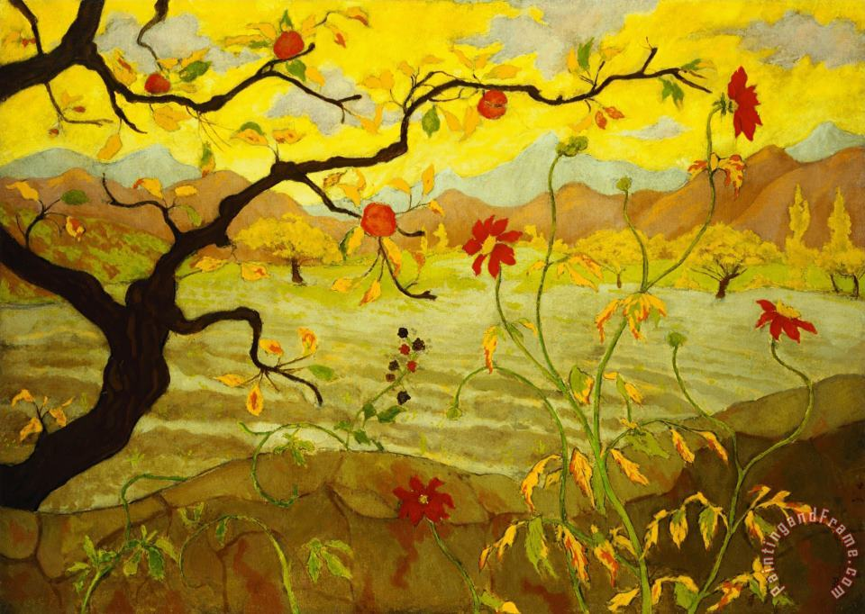 Paul Ranson Apple Tree with Red Fruit Art Painting