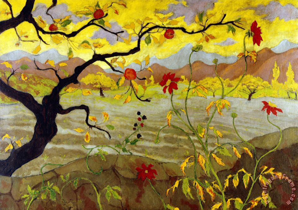 Apple Tree with Red Fruit 1902 painting - Paul Ranson Apple Tree with Red Fruit 1902 Art Print