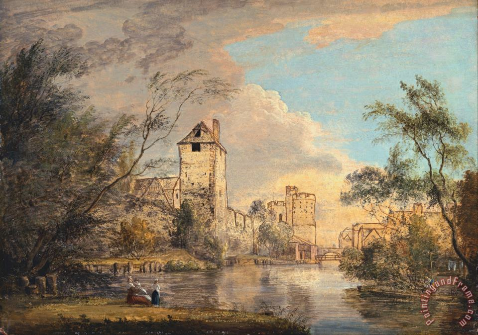 An Unfinished View of The West Gate, Canterbury painting - Paul Sandby An Unfinished View of The West Gate, Canterbury Art Print