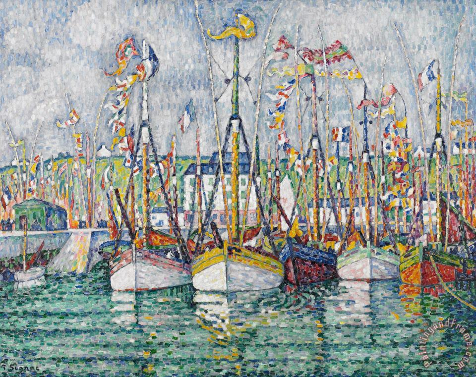 Blessing Of The Tuna Fleet At Groix painting - Paul Signac Blessing Of The Tuna Fleet At Groix Art Print